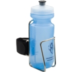 TwoFish Quick Water Bottle Cage with Bottle: Stainless