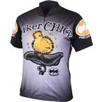 World Jerseys Biker Chick Cycling Jersey: Black