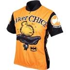 World Jerseys Biker Chick Cycling Jersey: Orange