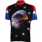 World Jerseys Amercian Eagle Cycling Jersey - Black
