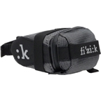 Fizik Seat Bag with Strap: Black/Silver; SM