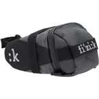 Fizik Seat Bag with Strap: Black/Silver; MD