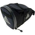 Axiom Rider DLX Seat Bag: Black/Gray; LG