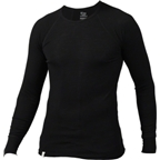 Ibex Woolies Long Sleeve Crew Top: Black