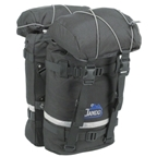 Jandd Mountain Pannier Set: Black