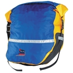 Jandd Hugo Waterproof Pannier Set: Blue/Yellow