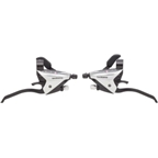 Shimano EF65 3 x 8 speed Flat Bar Brake/Shift Lever Set  Silver