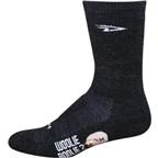 """DeFeet Woolie Boolie 6"""" Sock: Charcoal"""