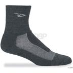 DeFeet Blaze Wool Sock: Charcoal/Gray