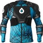 SixSixOne EVO Protective Pressure Suit: Black/Blue