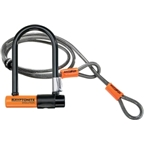 "Kryptonite Evolution Mini-7 U-Lock with Cable: 3.25"" x 7"""