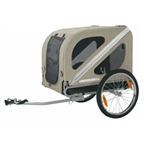 Croozer Dog Trailer Steel Frame 99lbs Capacity Silver-Sand