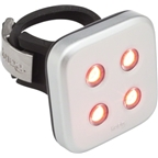 Knog Blinder 4 Dots USB-Rechargeable Safety Light: Red LED; Silver