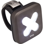 Knog Blinder 4 Cross USB-Rechargeable Safety Light: White LED; Gunmetal