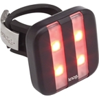 Knog Blinder 4 Stripe USB-Rechargeable Safety Light: Red LED; Black