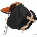 Banjo Brothers Minnehaha Canvas Saddle Bag: Black; SM