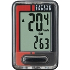 CatEye Enduro Cycling Computer CC-ED400: Black/Red