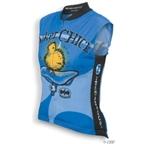World Jerseys Women's Biker Chick Sleeveless Cycling Jersey - Blue