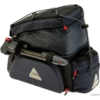 Axiom PaddyWagon EXP 19-liter Rack Bag: Black/Gray