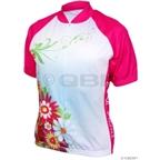 World Jerseys Women's Bella Fiori Cycling Jersey: Pink