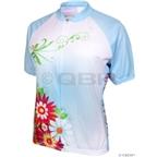 World Jerseys Women's Bella Fiori Cycling Jersey: Blue