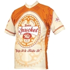 World Jerseys Moab Brewery Sprocket Ale Cycling Jersey: Tan