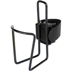 TwoFish QuickCage 24oz Water Bottle Cage: Vinyl Coated Black (No Bottle Included)