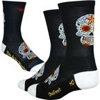 DeFeet Aireator Sugarskull Sock: Black