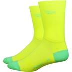 DeFeet Aireator Hi Top Sock: Yellow/Green
