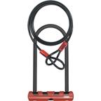 "ABUS Ultimate 420 U-Lock + Cobra Cable: 230mm (9""); Black/Red"