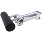 Velo Orange Dajia Handlebar Accessory Mount for threadless stems: Silver