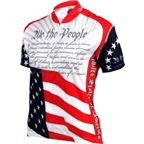 World Jerseys Women's U.S. Consitution Cycling Jersey: Red/White/Blue