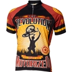 World Jerseys Revolution Motorized Cycling Jersey: Brown