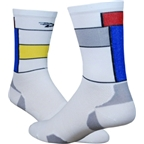 DeFeet Levitator Lite Legends LeMondster Sock: White/Red/Blue/Yellow~ XL