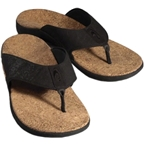 Sole Casual Cork Flip-Flop: Coal~ Men's US 9