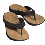 Sole Casual Cork Flip-Flop: Coal~ Women's US 6