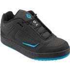 SixSixOne Filter Shoe: Black/Cyan