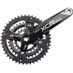 SR Suntour Crankset XCR-6 9 speed 44/32/22 175mm Square Taper, Black