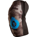 SixSixOne Comp All Mountain Protective Knee Pad: Gray Camo~ SM