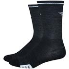 """DeFeet Cyclismo Wool Reflector 5"""" Sock: Charcoal"""