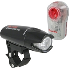 Planet Bike Blaze 2 Watt Micro Black Headlight and Superflash Turbo Light Set