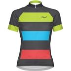 Primal Wear Women's Bold Cycling Jersey: Black/Red/Green/Blue