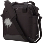 Detours Pike Place Pannier Bag: Sold as Each Black With Dahlia Flower