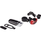 Infini Front Rear Light Set With Handlebar and Seatpost Bracket