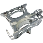 "MKS Supreme Keirin Track Pedal: 9/16"" Toe Clip Compatible Chrome Plated Silver"