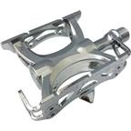 "MKS Supreme Keirin Track Pedal: 9/16"" Toe Clip Compatible Chrome Plated Silver"