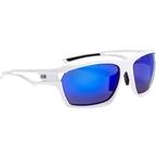 Optic Nerve Variant Polarized Sunglasses: Shiny White