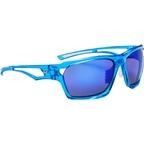 Optic Nerve Variant Polarized Sunglasses: Crystal Blue