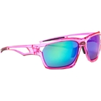 Optic Nerve Variant IC Sunglasses: Crystal Pink