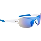 Optic Nerve Vapor IC Sunglasses: Shiny White with Blue